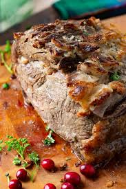 Once your prime rib reaches just about room temperature, place it in a roasting pan. Slow Cooker Prime Rib Recipe Oh Sweet Basil