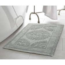 bath rug cotton stonewash medallion 17 in x 24 in20 in x 32 textured organic bath