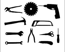 hammer and saw clipart. tools svg files for silhouette cameo and cricut. dad, screwdriver, hammer, circular hammer saw clipart