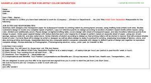 artist color separation fer Letter