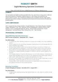 Sample Social Media Resume Marketing Specialist Resume Sample 98