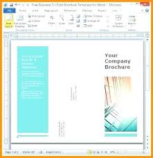 Free Fold Brochure Templates Word Template Tri Blank 2010