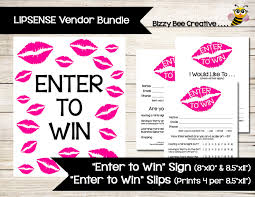 raffle sign lipsense younique enter to win poster sign raffle