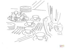 Small Picture Dinner Table coloring page Free Printable Coloring Pages