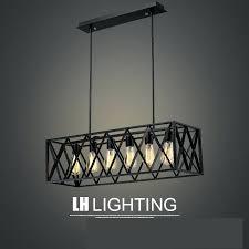 iron rectangular chandelier black chandeliers