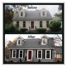 Vinyl Siding in Charcoal Grey - Black Shutters - Grey Roof | Ideas For The  Home & Decor | Pinterest | Black shutters, Vinyl siding and Gray