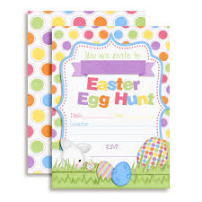 Bunny Hunting Easter Eggs Party Invitations
