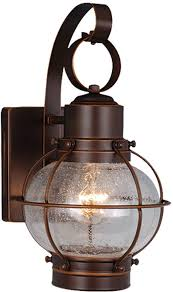 vaxcel ow21861bbz ham nautical burnished bronze finish 7 25 nbsp wide outdoor wall lighting sconce loading zoom