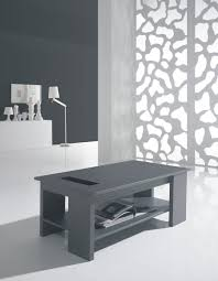 Table basse relevable gris cendré contemporaine DANICA