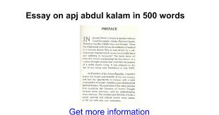 essay on apj abdul kalam in words google docs