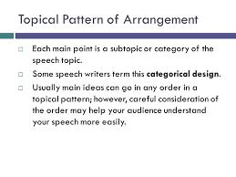 Topical Organizational Pattern Extraordinary Organizational Arrangements Body Ppt Download