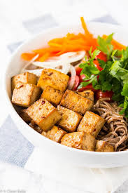 Press and cube your tofu. Baked Tofu 5 Ingredients Needed Weeknight Tofu Recipes A Clean Bake
