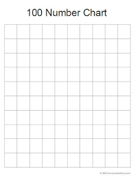 Blank 100 Chart Printable Free Math Printable Blank 100 Number Chart 100 Number