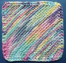 Sugar And Cream Knit Dishcloth Pattern Mesmerizing Perfect OneOunce Dishcloth FREE Patterns