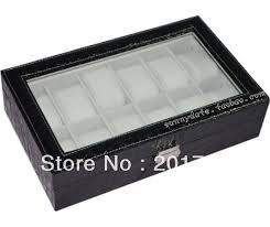 watch storage box prices net crocodile lines transparent 12 skylarks watch box mens collection boxes male storage