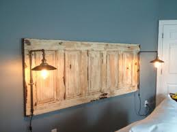 King Size Natural Headboard With Lights Headboard Pinterest