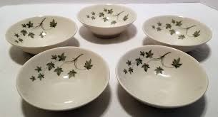 5 Mid Century Modern MCM Peter Terris Shenango China Ivy Rice Soup Small  Bowls #Shenango #MidCenturyModern