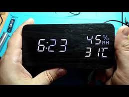 <b>Часы</b>-будильник <b>Perfeo</b> Wood, коричневый / зелёная, время ...