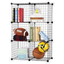 metal wire shelving unit closet storage rack 6 cube bookcase organizer shelf