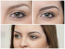 semi permanent eyebrows before and after