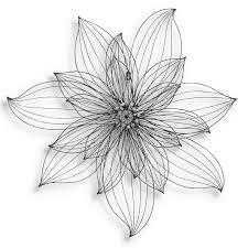 wire flower wall decor