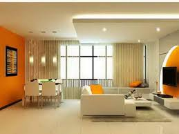 Orange Paint Colors For Living Room Orange Wall Green Couch With Orange Wall Empty Interior Gallery