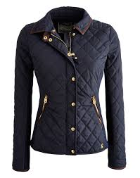 Joules Women's Jersey Ribbed Quilted Jacket, Marine Navy. The ... & Joules Women's Jersey Ribbed Quilted Jacket, Marine Navy. The ribbed jersey  side panels and Adamdwight.com