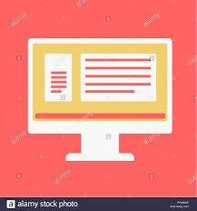 Web Site Source Codes On Computer Monitor Icon Stock Photo