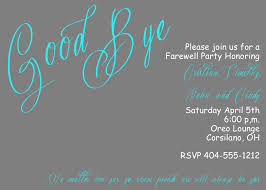 Free Going Away Party Invitations 009 Going Away Party Invitation Template Sar2286 Fearsome