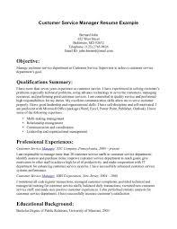 Summary Or Objective On Resume Customer Service Resume Objective Delectable Customer Service 67