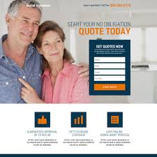 burial and final expense insurance landing page design burial insurance example