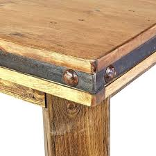 reclaimed wood and metal dining table rustic metal and wood dining table rustic wood counter height reclaimed wood and metal dining table