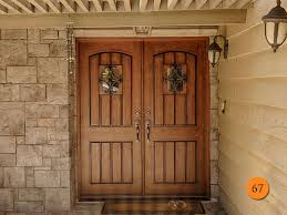 Contemporary Rustic Double Front Door 64 I For Decorating