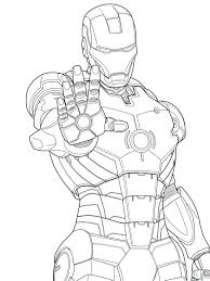 Iron Man Color Page Iron Man Marvel Iron Man Coloring Pages Free