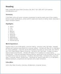 software testing resume samples software qa resume samples buildbuzz info