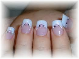 Endearing Wedding Nail Art Design Idea With Pale Blue And Pink ...