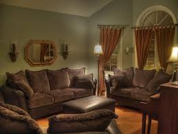 image of living room color ideas for brown furniture