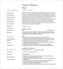 Chef Resume Epic Cook Resume Sample Pdf Free Resume Template