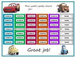 Free Printable Cars Potty Training Chart