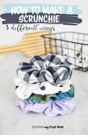 how to make a scrunchie 3 diffe