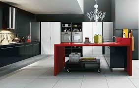 Red White And Black Kitchen Designs Home Design Ideas
