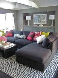 charcoal gray sectional sofa home