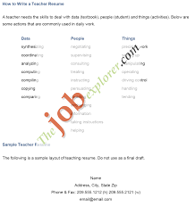80 Teacher Job Resume Format Job Resume Create Professional