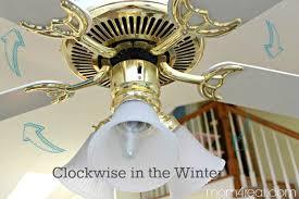 change ceiling fan direction in winter