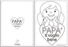 Biglietto Auguri Papà Da Colorare Anyáknapja 2 Festa Del Papà