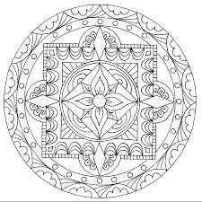 Coloring Pages Coloring Pages Free Tibetan Mandala With Relax