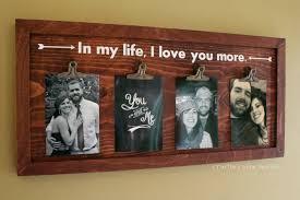 wood clip photo frame wall art
