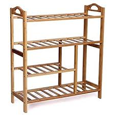 furniture shoe rack. woodluv 4tier natural bamboo wooden shoe rack shelf holder storage organizer furniture c