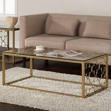 metal glass coffee table. The Curated Nomad Quatrefoil Goldtone Metal And Glass Coffee Table