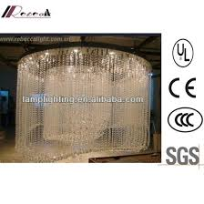 modern specially hotel decorative large spiral k9 crystal chandelier